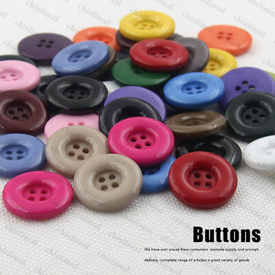 19 colors 7 size 4-Hole Buttons Bulk/Job Lot/Scrapbooking/Card Making/Crafting