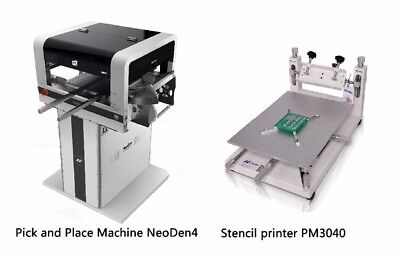 SMALL PCB PRODUCTION Line NeoDen4 with Printer PM3040 for workshop 36  feeders-J