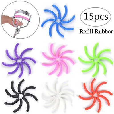 15x Refill Rubber Pads Make Up Tool Replacement Eyelash Curler Circle Cosmetic