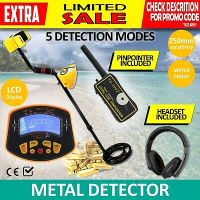 Deep Sensitive Metal Detector Gold Coils Digger Treasure Hunter + PINPOINTER