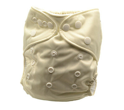 New Baby Infant Cream Colour Modern Cloth Nappy Nappies Diaper Cover Liner (P19)