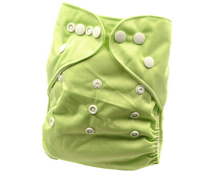 New Baby Infant Light Green Modern Cloth Nappy Nappies Diaper Cover Liner (P14)
