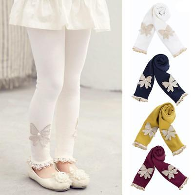 Girls Kid Fashion Winter Warm Thick Leggings Lined Stretch Cotton Trousers Pants