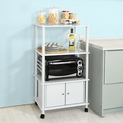 SoBuy® Wood Kitchen Storage Cabinet Cart, Microwave Rack Shelf,FRG12-W,White, UK