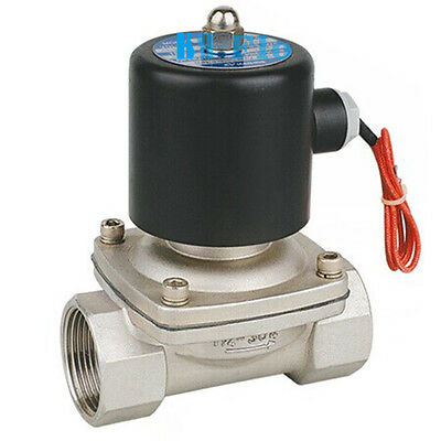 """1/2"""" BSPP Stainless Steel 304 Normally Closed Electric Solenoid Valve 24VDC"""