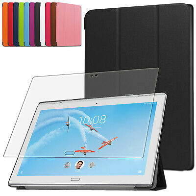 Smart Cover + Schutz Folie Lenovo Tab 4 10 Plus (Tb-X704F/l) Hülle Case +Pen-3