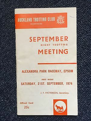 1974 Auckland Trotting Race Book Young Quinn