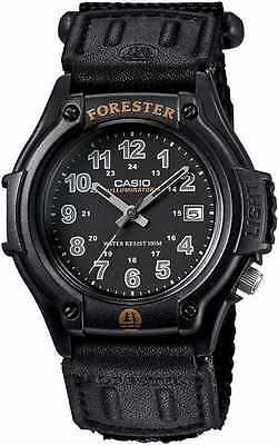 Casio Forester FT-500WC-1 Black New Mens Watch Analog Nylon Band FT-500 Light