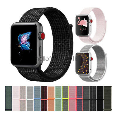 Woven Nylon Sport Loop Bracelet Watch Straps Para Apple Watch Band Series 4 3 2
