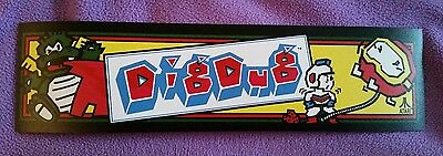 Dig Dug arcade marquee sticker.2.75 x 10.5 (Buy any 3 stickers, GET ONE FREE!)