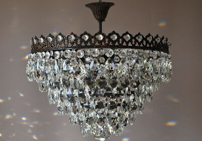 Antique Pendant French Crystal Art Nouveau Chandelier FLUSH Lighting Big Sale