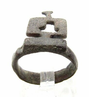 Roman Bronze  Key Ring - Rare Ancient Wearable Historic Artifact Lovely -  P620