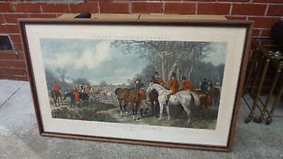Antique Engraving  Fox Hunting The Meet  Fores National Sports Hunting J, Harris