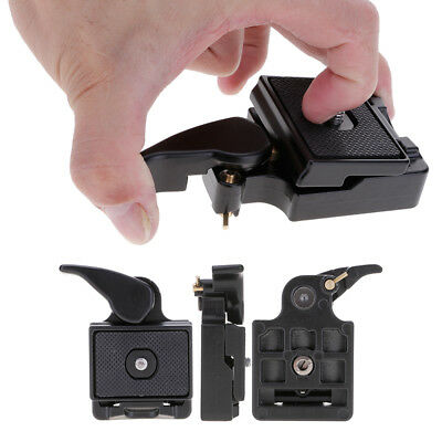"Durable Camera Tripod Quick Release Plate Mount Adapter Clamp Fit 1/4"" & 3/8"""