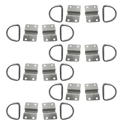 Pack 12 Tie Down Lashing D Ring Staple Cleat Boat Anchor Point Load Securing