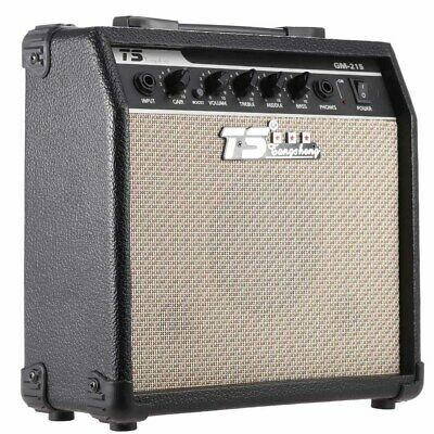 """GM-215 15W Electric Guitar Amplifier Amp Distortion with 3-Band EQ 5"""" Speaker"""