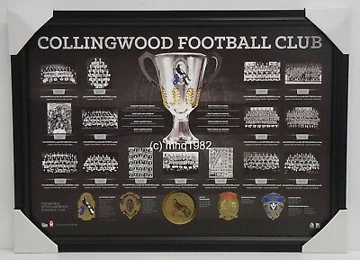 Collingwood Premiership Series Historical Official AFL Print Framed Daicos Shaw