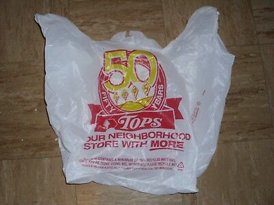 Tops Markets 50 year Anniversary Grocery Bag - excellent condition, Buffalo NY