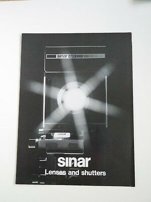Sinar Lenses and Shutters - Guide