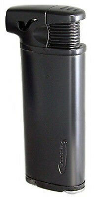 Vector Elio Angled Flame Pipe Lighter w/ Built-in Tamper Gunmetal Satin - 8280