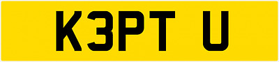 KEPT U - keep, you, your, mine, love, own, cherished private number plate