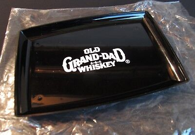 Vintage Old Grand-Dad Whiskey Acrylic Plastic Serving Check Tray - NOS
