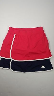Adidas Women's Skirt/Skort Lot of 2 Climalite Stretch Athletic Pink/Blue Small