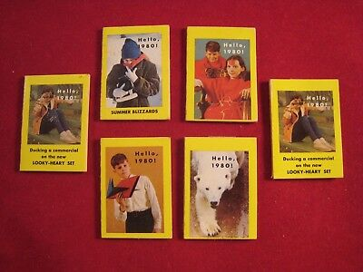 Lot of 1969 Cracker Jack Prizes - Hello 1980 Books - 6 Total