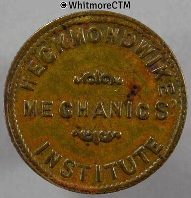 Refreshment Inn Pub token Heckmondwike 22mm Mechanics Institute ½D.  - By Ardill