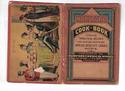 Rare 1870's HORSFORD RUMFORD CHEMICAL WORKS COOK BOOK Ad Booklet