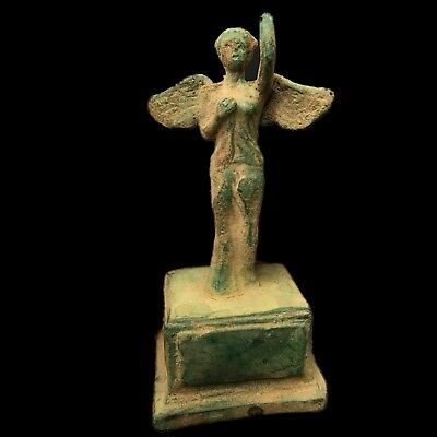 ROMAN Ancient Bronze Female Statue / Statuette On Stand 200-400 AD (Large Size)