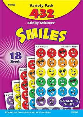 432 Smiles Scratch and Sniff Stinky Reward Stickers TREND Variety Pack
