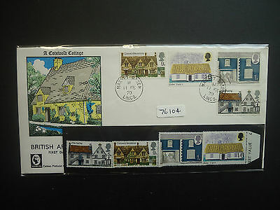 Great Britain 1970 Cottages Cameo First Day Cover + MNH Set
