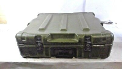 Pelican Hardigg Military Storage Case Container with Foam, Green 22.5x21.5x7 in.