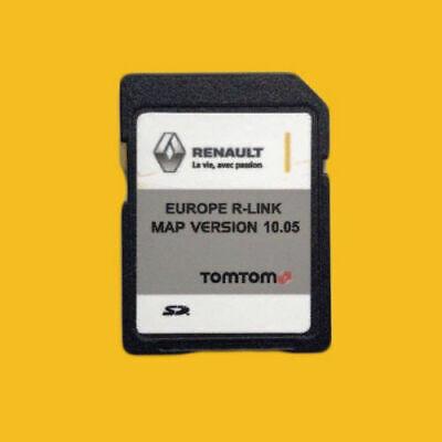 9.85 2018 Renault R-LINK TomTom SD Card EUROPE Map UK BRITAIN IRELAND FRANCE