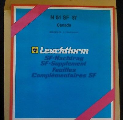 Canada. Leuchtturm Stamp Album SF Supplement Pages N 51 SF 87, SEE PHOTO   (A11)