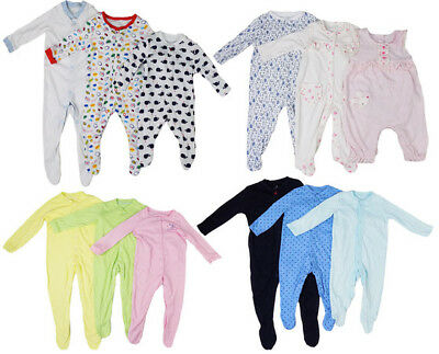 Baby Girl Boy Sleepsuit Long Sleeved Cotton Babygrow Playsuit N/B - 18/24 Months