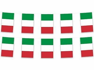 5m Italy Italian Polyester Fabric Bunting Garland Pennant Flag Rugby Football