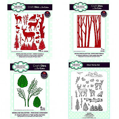 CREATIVE EXPRESSIONS SUE WILSON DIES & STAMPS Festive Woodland 2017 CHRISTMAS