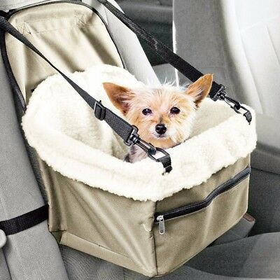 New Folding Dog Travel Booster Bag Cat Pupy Dog Pet Car Seat Carrier Safety Belt