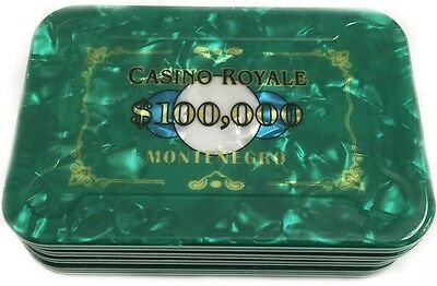 $100,000 James Bond Casino Royale Poker Plaque