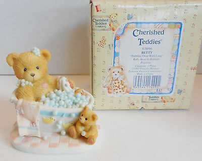"Cherished Teddies Enesco 1993 ""Bubblin' Over with Love"" Betty 626066 Bubblebath"