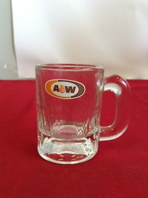 A&W ROOT BEER Small Stein Mug from Restaurant- Made in USA- GLASS -free shipping
