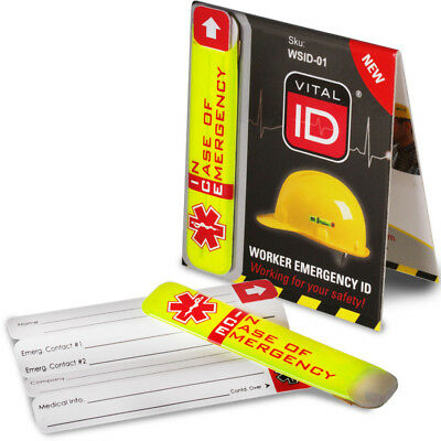 Vital ID Safety Hard Hat Helmet Worker Accident Emergency ICE Tag UK version