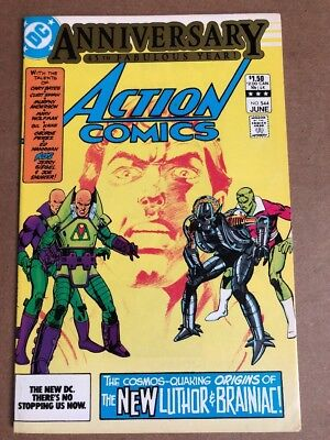 Action Comics #544 (June 1983) New Luthor & Braniac 45th Anniversary Issue
