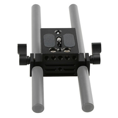 US Camera Baseplate 15mm Railblock for DSLR Rig Rod Rail Support System Canon