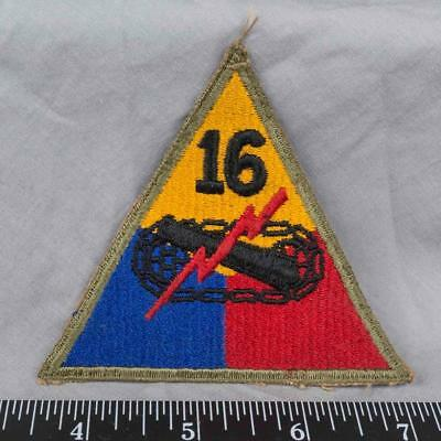 Vintage WWII Korean War Era US Army 16th Armored Division Class A Patch ajd
