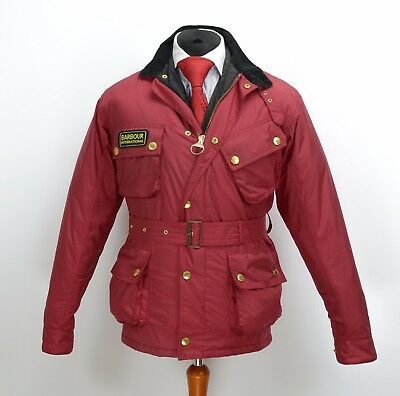 Mens Barbour International Nylon Jacket Red Size M