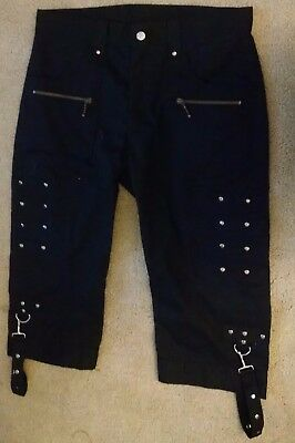 Verillas gothic unisex shorts steampunk edgy cosplay black size 34