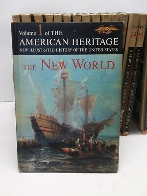 VTG 1963 American Heritage New Illustrated History of the United States 16pc Set